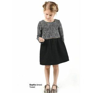 Imoga Sophia Long Sleeve Tweed A-Line Dress Wool